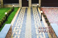 Тротуарная плитка Кирпич цветной